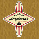 Spuma classica Logo Design Fotografia Stock