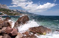 Spuma in Crimea Fotografie Stock Libere da Diritti