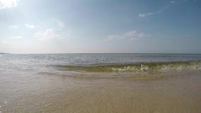 Spuma del Mar Baltico in Polonia stock footage