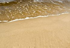 Spuma del mare Fotografia Stock