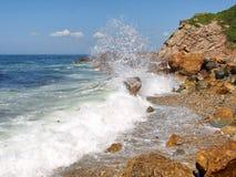 Spuma del mare Fotografie Stock