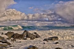 Spuma del mare di Bering, st George Island, Alaska fotografie stock libere da diritti