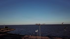 Spuma del vento con la luna a Buenos Aires