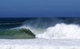 Spuma dell'oceano sulla costa atlantica Fotografia Stock Libera da Diritti
