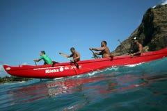 Spuma della canoa Immagini Stock Libere da Diritti