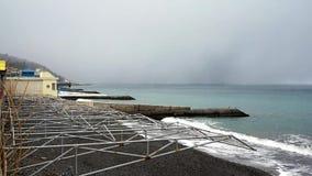 Spuma di inverno nel Mar Nero video d archivio
