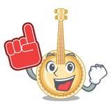 Spuma il banjo miniatura del dito nelle forme del fumetto illustrazione di stock