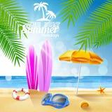 Spuma sulle vacanze estive della spiaggia Fotografie Stock Libere da Diritti