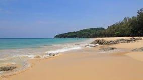 Spuma tropicale calma della spiaggia archivi video