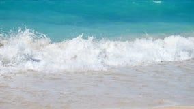 Spuma tropicale del mare stock footage