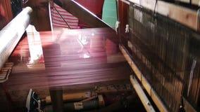 Spun Silk Machine Stock Photo
