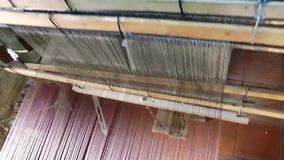 Spun Silk Machine stock video