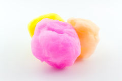 Spun sugar, Cotton Candy. Royalty Free Stock Images
