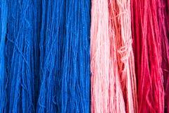 Spun yarn for use in weaving. Royalty Free Stock Photos