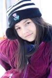 Spunky meisje klaar voor de winter royalty-vrije stock foto's