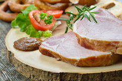 Spuntature bavaresi del porco Fotografia Stock