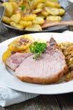 Spuntature bavaresi del porco Immagine Stock
