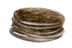 Spuntini della torta di Choco isolati su bianco Fotografia Stock