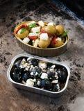 Spuntini delle olive Fotografia Stock Libera da Diritti