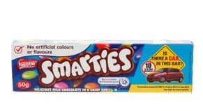 Spuntino del cioccolato degli Smarties di Nestle Fotografie Stock