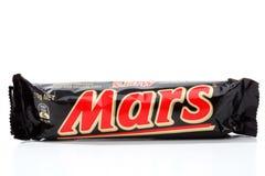 Spuntino del cioccolato della barra del Marte Fotografia Stock Libera da Diritti