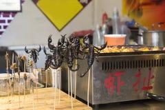 Spuntino dello scorpione Fotografia Stock