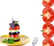 Spuntino di verdure con il pomodoro Fotografia Stock Libera da Diritti