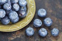 Spuntino sano antiossidante naturale dei mirtilli immagini stock