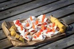 Spuntino sano di picnic Immagine Stock Libera da Diritti