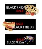 Spuntino sull'insegna di vendita di Black Friday Fotografie Stock