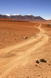 Spur 4X4 in der Wüste Stockbild
