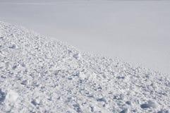 Spur auf Schnee. Lizenzfreies Stockfoto