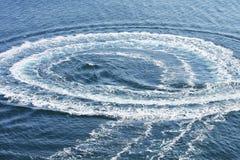 Spur auf Wasser Lizenzfreie Stockfotos