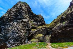 Spur der höchsten Erhebung mit Tunnel in Madeira, Portugal Lizenzfreies Stockfoto