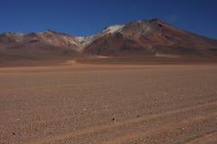 Spur in der Wüste von Siloli Stockbilder