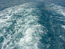 Spur des Bootes Stockfotografie
