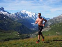 Spur, die in Chamonix France läuft Stockbild