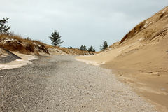 Spur durch die Dünen stockfotografie
