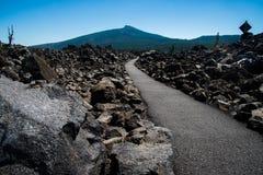 Spur durch Lavafelder lizenzfreie stockfotos