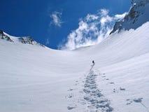Spur eines Snowboarder Stockfoto