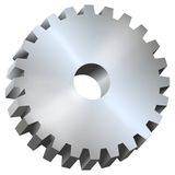 Spur gear, illustration royalty free stock photography