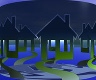 Spur-Häuser Lizenzfreie Stockbilder