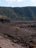 Spur innerhalb des Kraters stockfotos