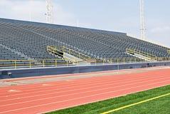 Spur mit Stadion-Lagerung Stockfotografie