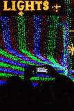 Spur von Lichtern Lizenzfreies Stockfoto