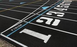 Spur-Wege und Ziellinie Lizenzfreie Stockfotos