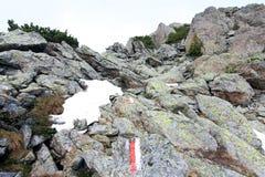 Spur zum Gipfel in den Alpen (lesachtal) Stockfotos
