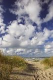 Spur zum Strand Lizenzfreie Stockfotos
