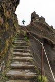 Spur zur Spitze in Madeira lizenzfreie stockbilder