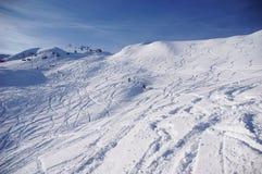 Spuren auf dem Schnee Lizenzfreie Stockfotos